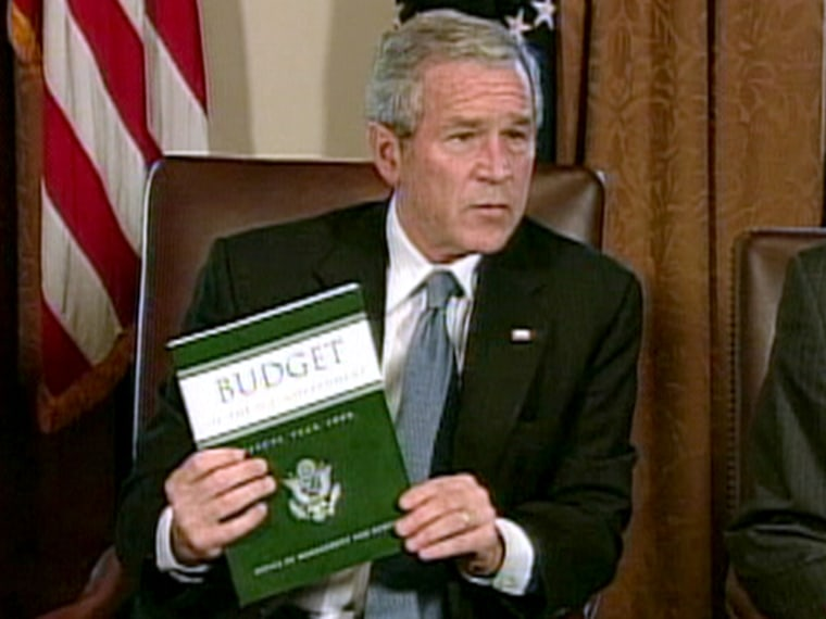 Feb. 5: President Bush proposed his $2.9 trillion F.Y. 2008 budget Monday and, Tuesday, began trying to sell it to a Democratically-controlled Congress.