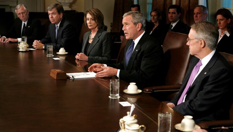 U.S. President George W. Bush meets with Congressional leaders at White House