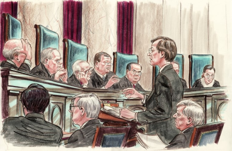 Image: Jeffrey Fisher argues before the U.S. Supreme Court
