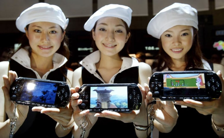 Sony's campaign girls show off the compa