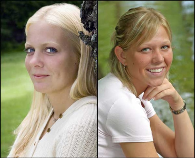 Whitney Cerak, left, and Laura Van Ryn were both involved in a fatal car accident in April 2006.