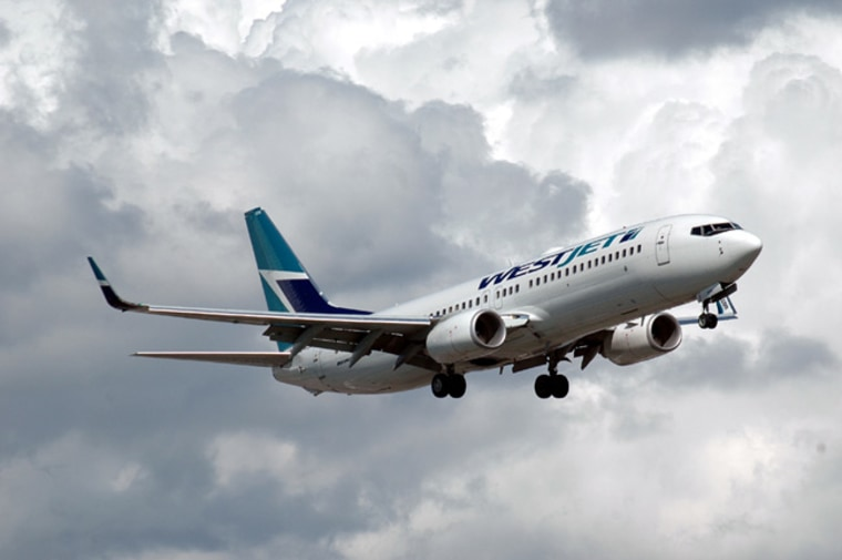 Canadian airline WestJet's Boeing 737-800s are among North America's best commercial jets to fly in terms of economy-class legroom. They offer a comfortable 34-inch seat pitch.