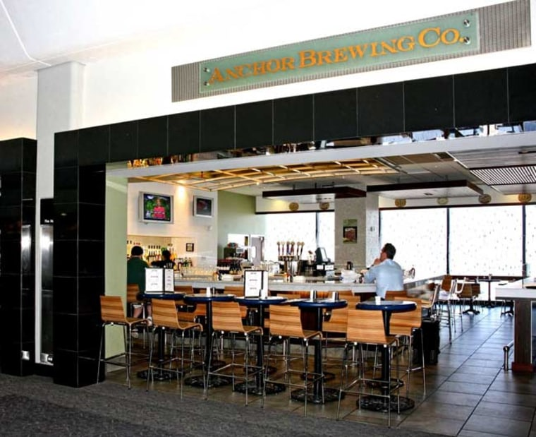 Craft brewer Anchor Brewing Co., whose signature Anchor Steam Beer is highly regarded by aficionados throughout the U.S., has a pub near Gate 70 in terminal 3 of San Francisco International Airport.