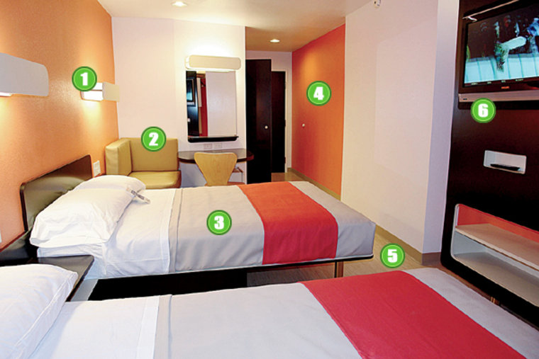 Motel 6's updated design will start appearing in new and existing hotels this fall.