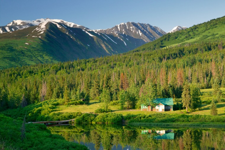 To really experience a night in Alaska, you need to do it on your own, in the middle of nowhere. Forest Service Cabins dot the entire state, most of them accessible only by charter boat or plane.