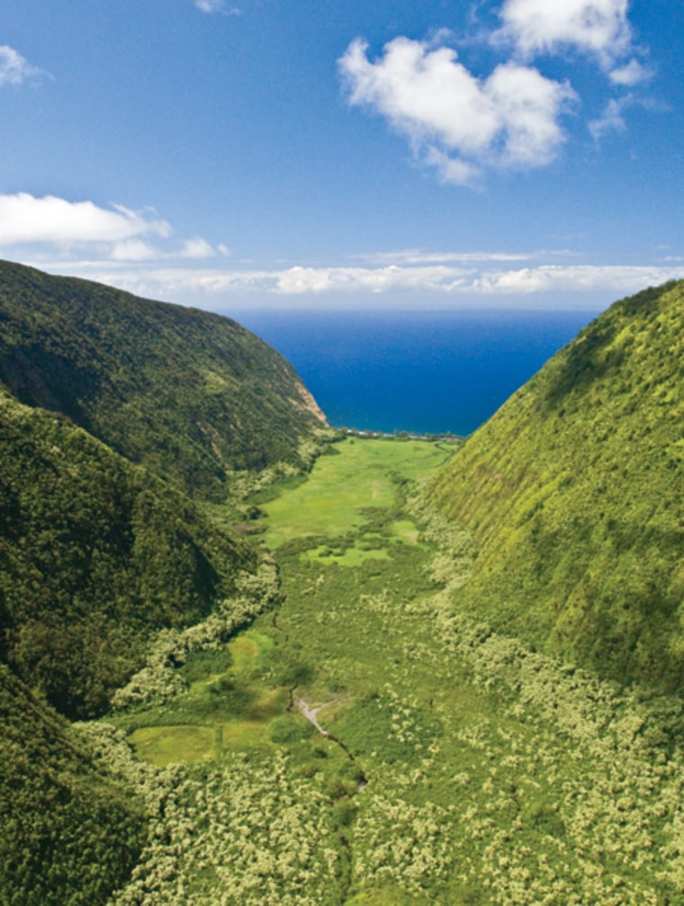 The serene landscape of The Place of Refuge, Waipio Valley. Kona's dense, cultural texture reflects the wild complexity of the youngest of the Hawaiian Islands. People use legends to understand their world — and when you live on an active volcano, understanding is absolutely essential.