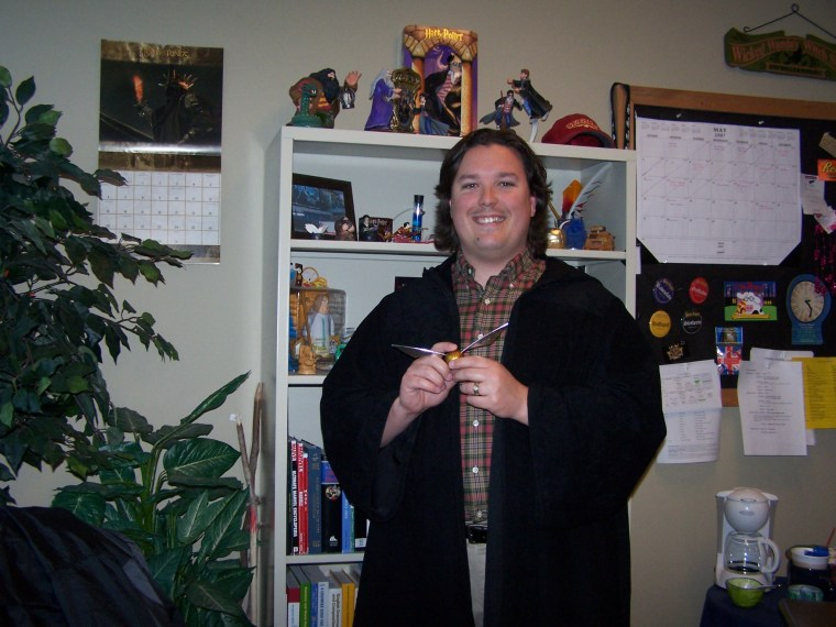 This is a picture of me in my classroom at Lausanne Collegiate School.