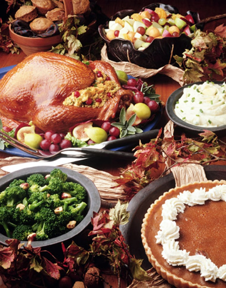 The average Thanksgiving meal for 10 will cost about $36 and pack on a carb-laden 3,000 calories per person.Snack during the day and you can hit a diet-busting 4,500 calories.