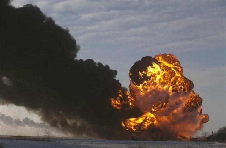 IMAGE: Train explosion in North Dakota