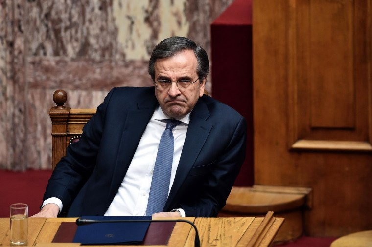 Image: Greek Prime Minister Antonis Samaras