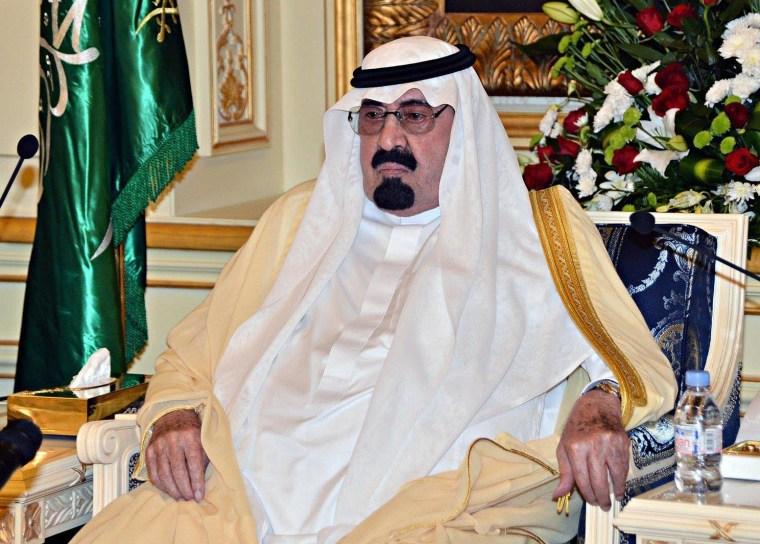 Image: King Abdullah on Sept. 29, 2013