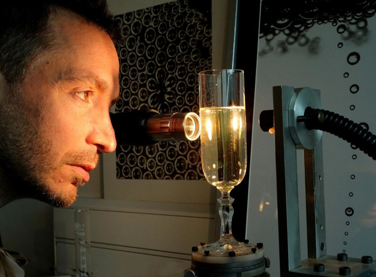 Image: Champagne researcher