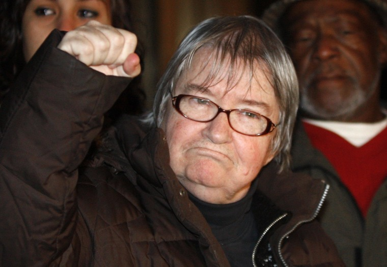 Image: File photo of disbarred lawyer Lynne Stewart as she arrives at federal court to begin her prison sentence in New York