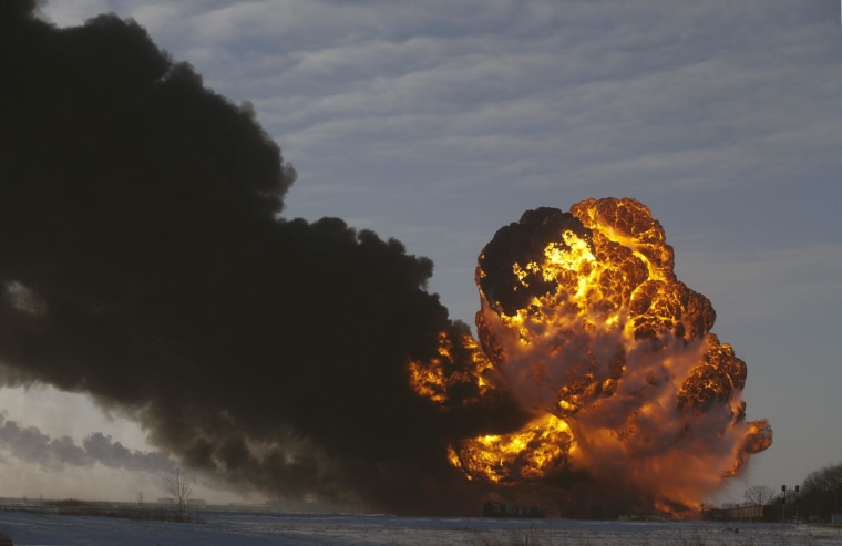 Image: train derailment