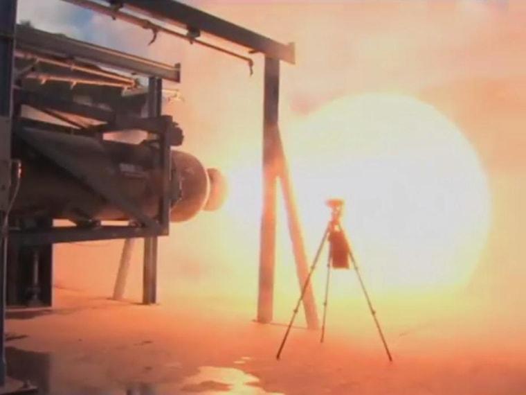 Image: Rocket firing