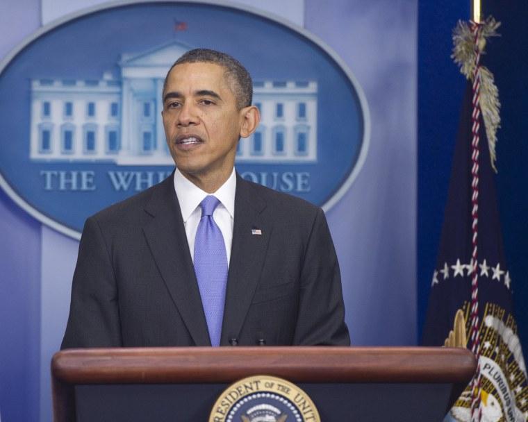 Image: US-POLITICS-OBAMA-PRESS CONFERENCE