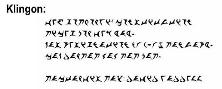 IMAGE: David Waddell's resignation note in Klingon.