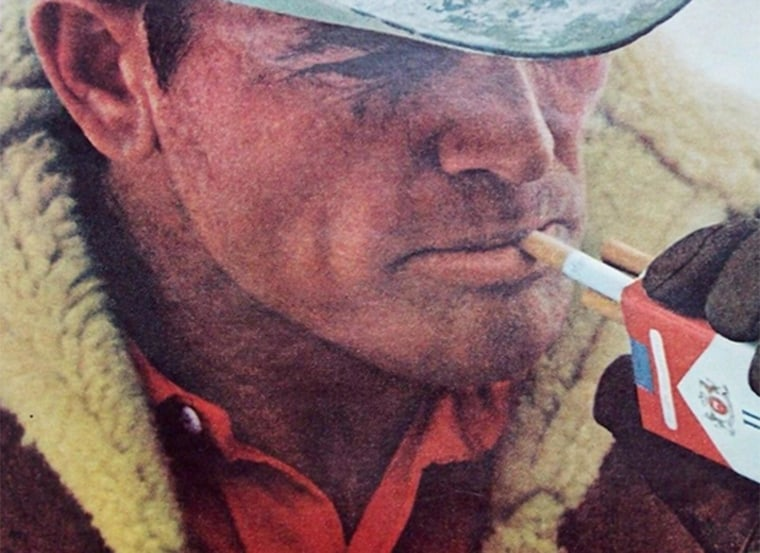 Detail of vintage Marlboro ad