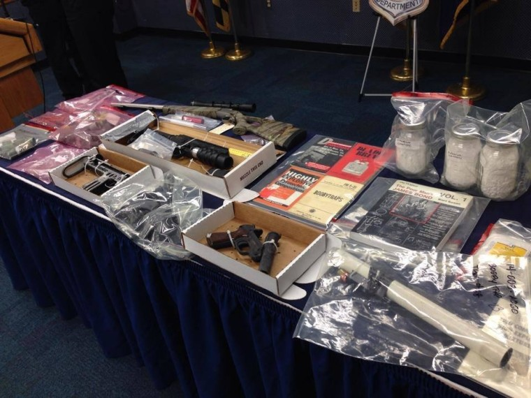 IMAGE: Huge Cache of Bombs, Explosive Materials in Md. Home