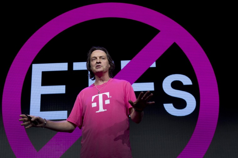 Image: T-Mobile CEO John Legere speaks during a news conference at the 2014 International Consumer Electronics Show (CES) in Las Vegas