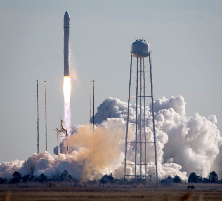 Image: An Orbital Sciences Corporation Antares rocket launches from Pad-0A at Wallops Island, Virginia