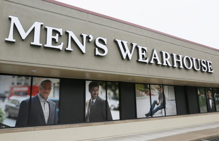 Image: The Men's Wearhouse sign is seen outside its store in Westminster, Colorado in this file photo