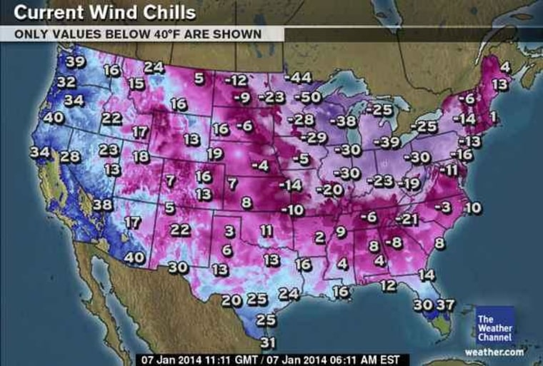 Us Wind Chill Map US Wind Chill Map: Brrr