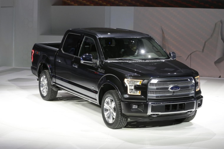 Ford unveils the new F-150 with a body built almost entirely out of aluminum at the North American International Auto Show in Detroit.