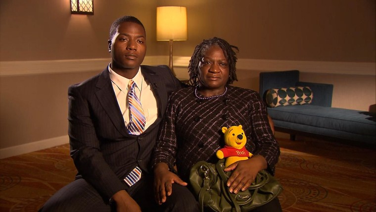 Jonathon Ferrell's brother, Willie, and his mother, Georgia.
