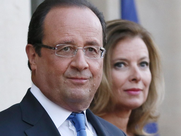 French president Francois Hollande, pictured in September with his partner, Valerie Trierweiler