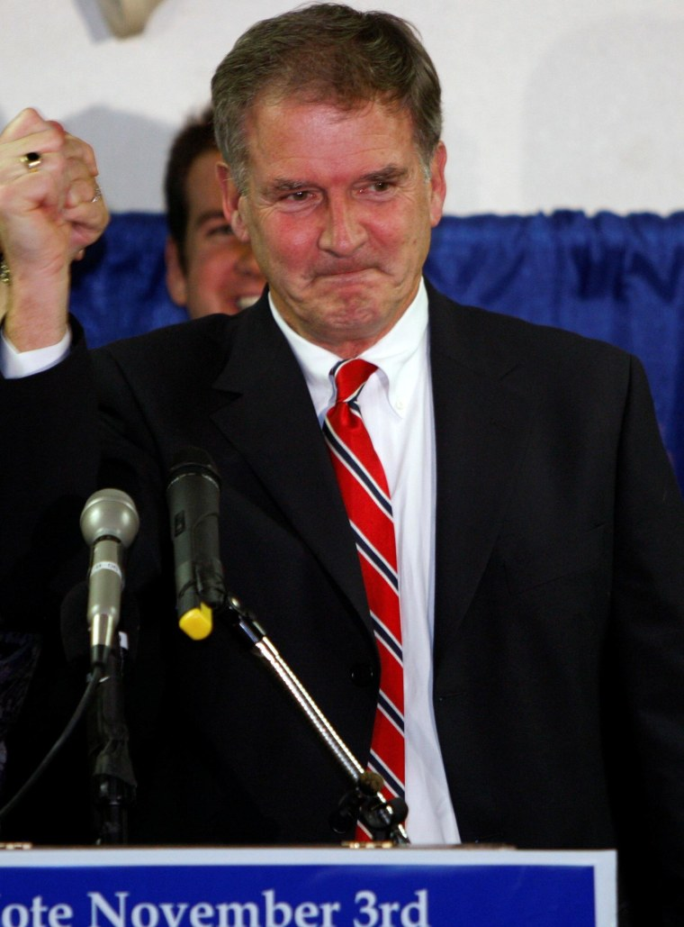 Bill Owens (D) after his victory in New York's 21st congressional district in 2009.