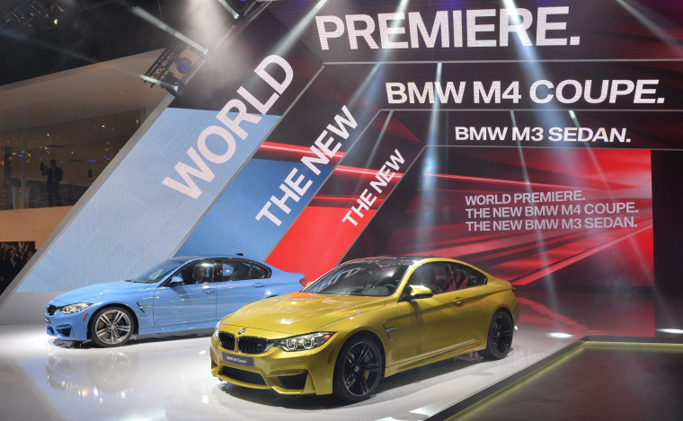Image: BMW M4 coupe (R) and the M3 sedan