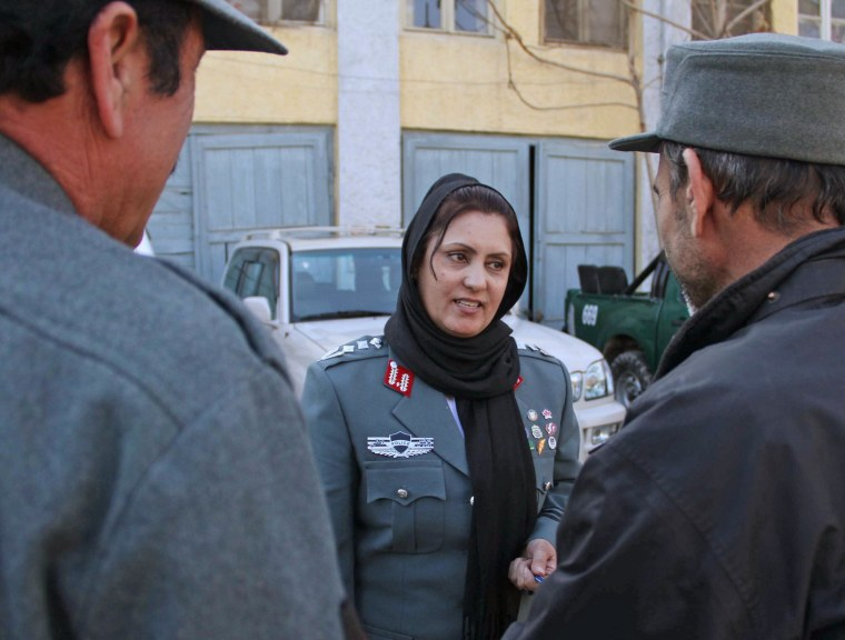 Image: First Afghan policewoman appointed to lead Kabul district