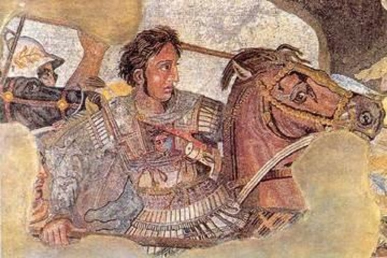 Detail from the Alexander mosaic from the House of the Faun, Pompeii, c. 80 B.C.