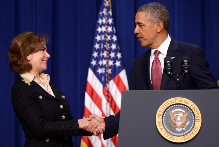 Image: US Presiden Barack Obama names Maria Contreras-Sweet to head the Small Business Administration.