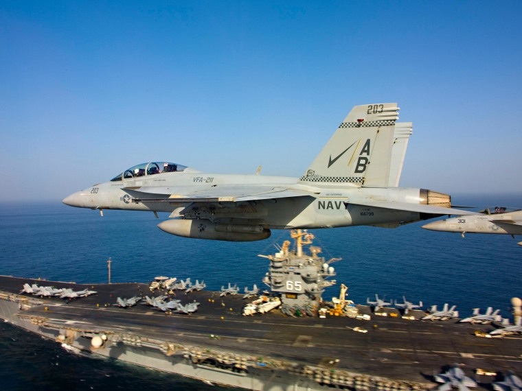 Image: File photo of F/A-18 Super Hornets