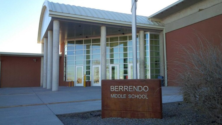 Image: The exterior of the school where a 12-year-old opened fire