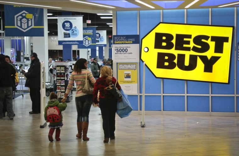 Best Buy said sales dropped over the crucial holiday season amid fierce competition.