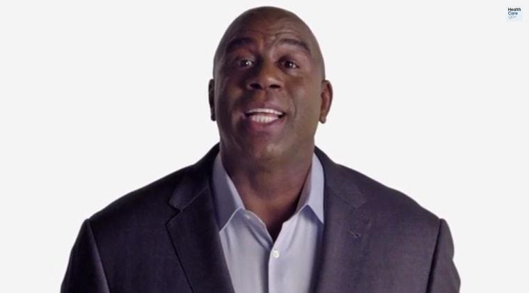 Magic Johnson in a video for HealthCare.gov