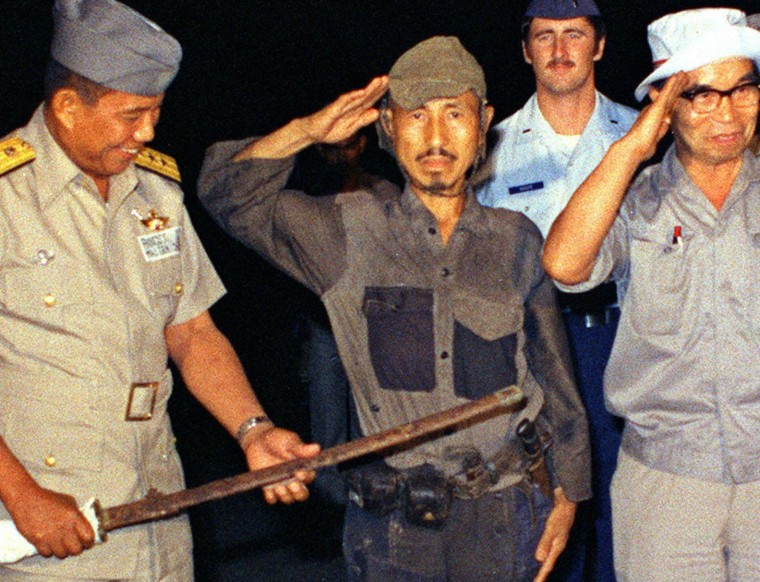Image: Hiroo Onoda saluting after his surrender on Lubang Island in the northwestern Philippines