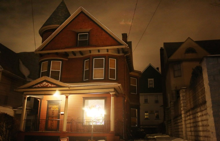 """This 1901 home for sale in Dunmore, Pa. was listed as """"slightly haunted."""" Now owners Gregory and Sandi Leeson are considering renting it out as they believe serious buyers have been spooked."""