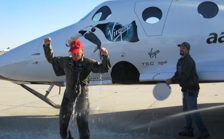 Image: Sturckow gets wet