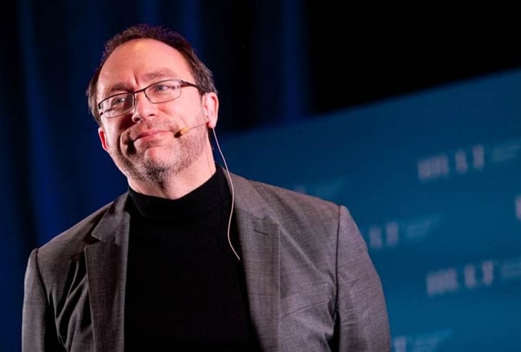 Jimmy Wales, founder of Wikipedia, speaks at Hult International Business School's Executive Speaker Series in San Francisco,