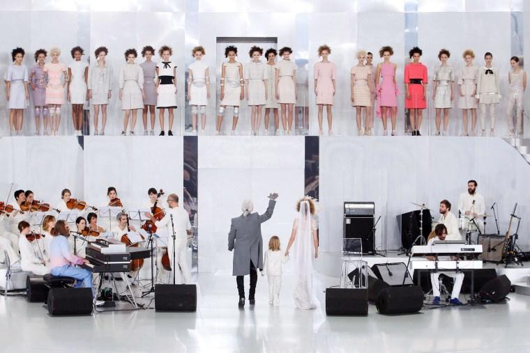 Image: German fashion designer Karl Lagerfeld