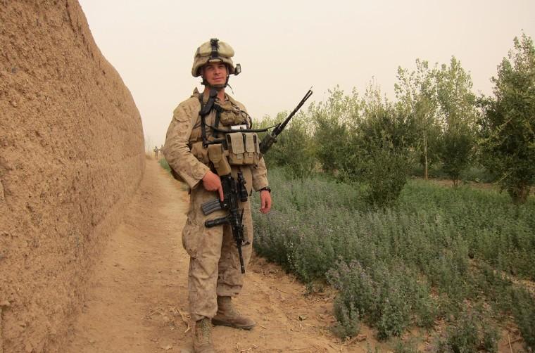 Image: Adrian Kinsella, on patrol in Helmand Province, Afghanistan.