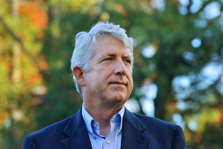 Mark Herring, pictured in the last weekend before elections in Fairfax, Va., recently changed his opinion of gay marriage and is now fighting his state's ban on same-sex couples marrying.
