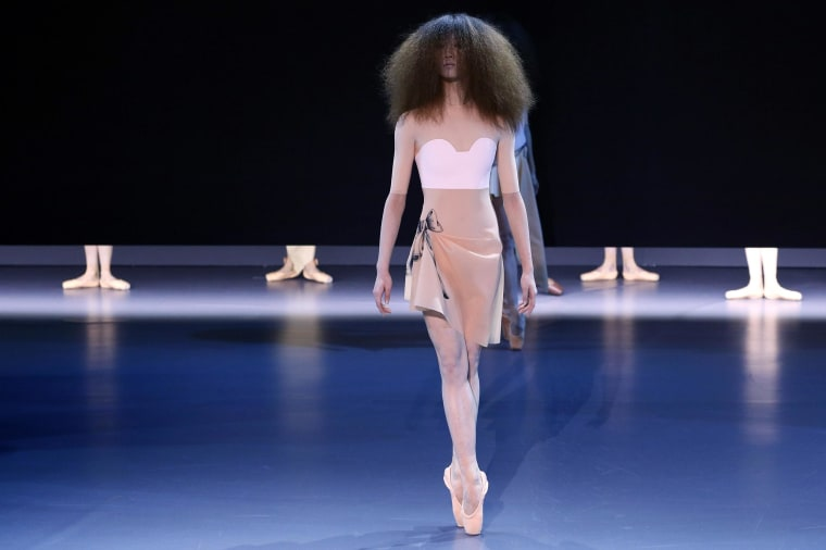 Image: A model presents a creation by Viktor&Rolf