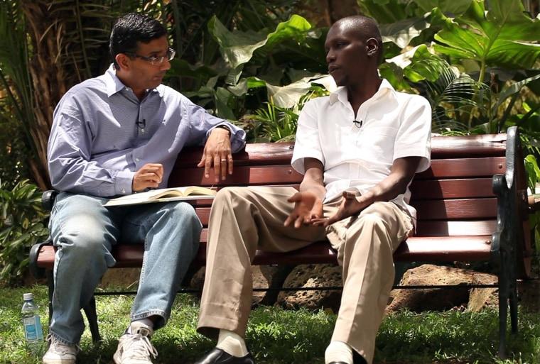 Image: Dinesh D'Souza interviews George Obama