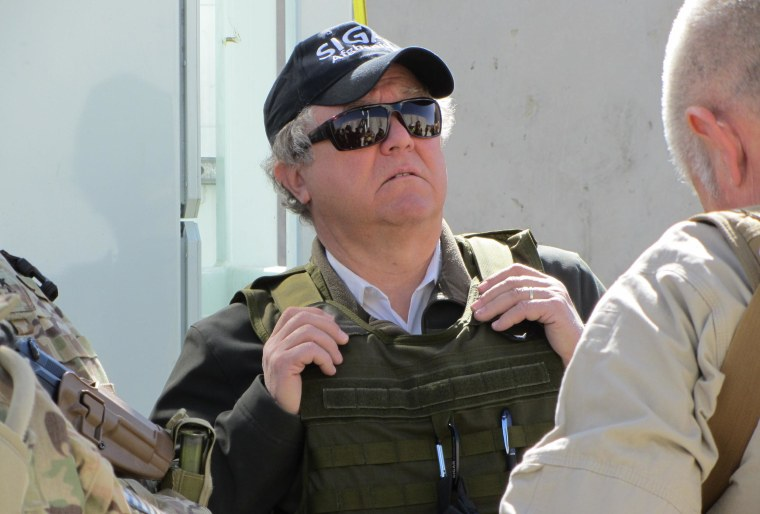 John Sopko, the Special Inspector General for Afghanistan Reconstruction, on a visit to Afghanistan.