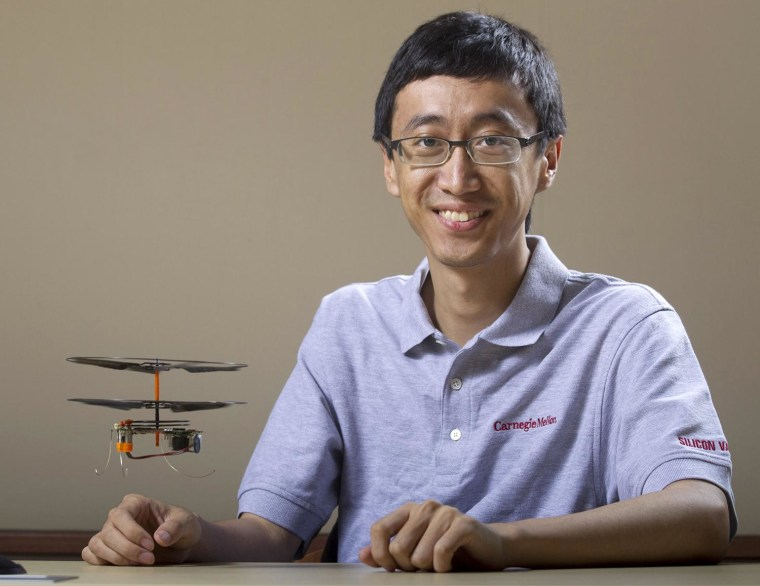 Image: Miniature helicopter may help with disaster rescues